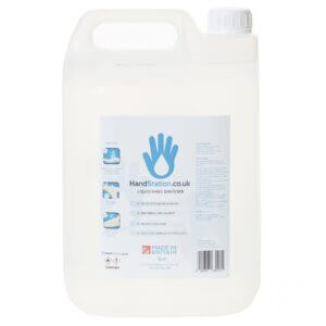 4x HandStations.co.uk 5L Hand Sanitiser 80% Alcohol Liquid Spray Dispenser Refill (20 Litre Bulk Deal)