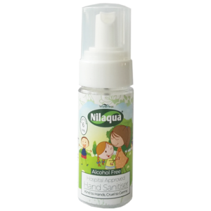 Nilaqua 55ml Alcohol Free Little Hands Foam Hand Sanitiser – Pocket Size