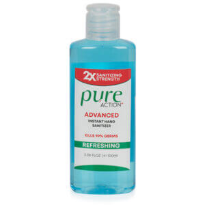 Pure Action Hand Sanitiser Gel 70% Alcohol with Aloe Vera 100ml Box of 48