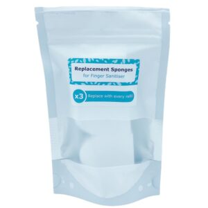 Finger Sanitiser Replacement Sponges (Pack of 3)