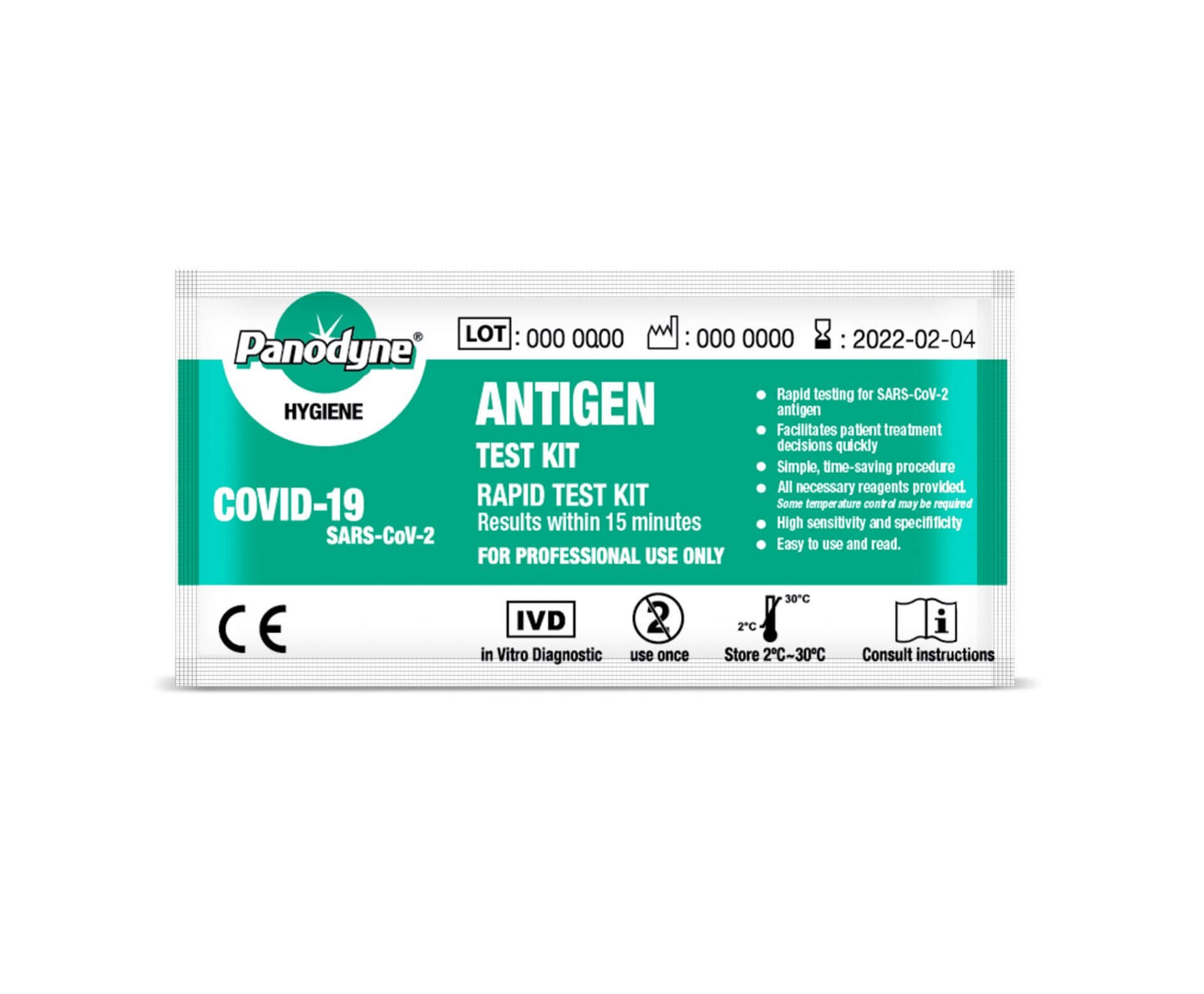 Panodyne Covid-19 Rapid Antigen Test Kit (SINGLE TEST KIT)