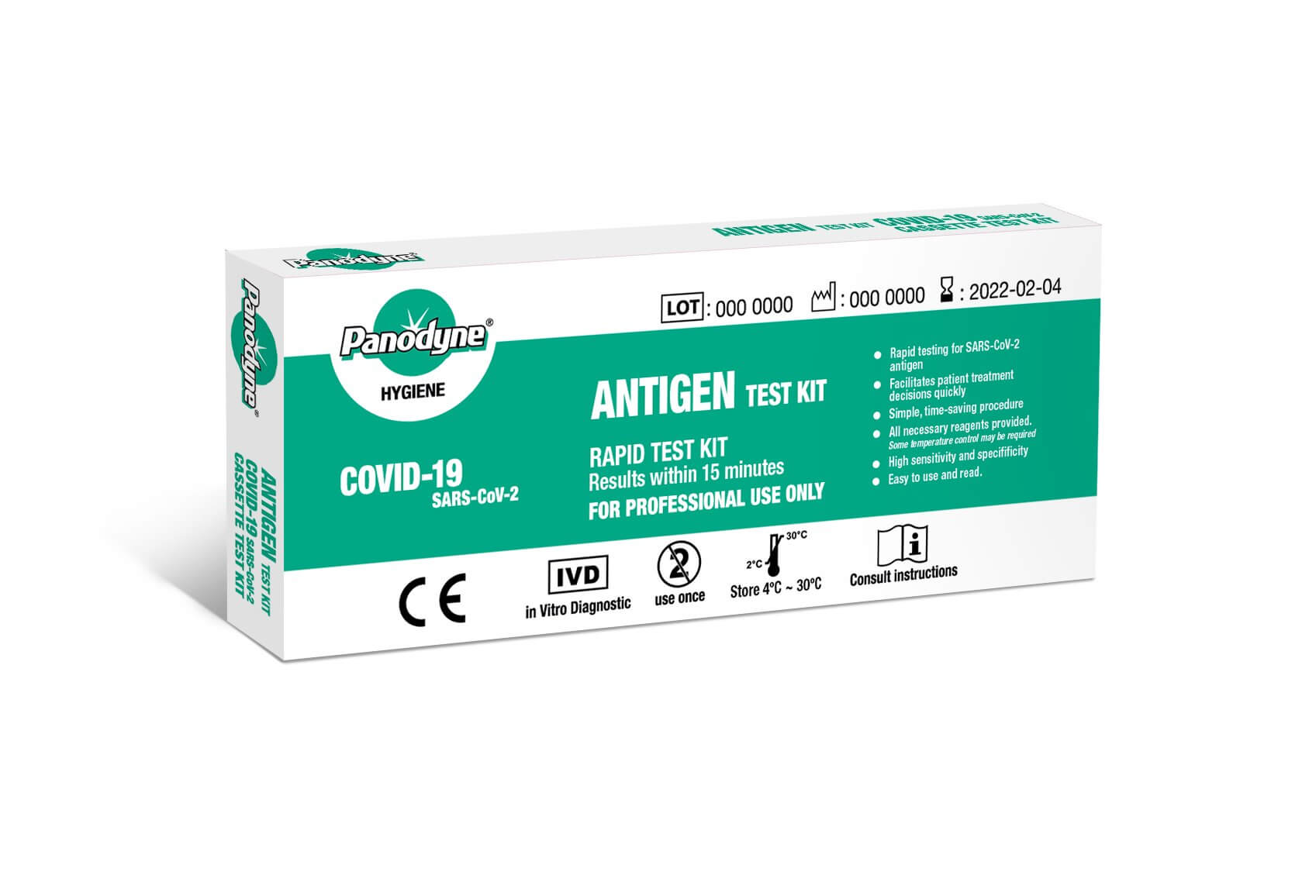 Panodyne Covid-19 Rapid Antigen Test Kit (BOX OF 24 TESTS)