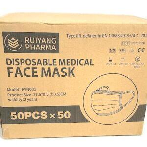 Wholesale Type IIR Medical Grade Face Masks – (Box of 2500)