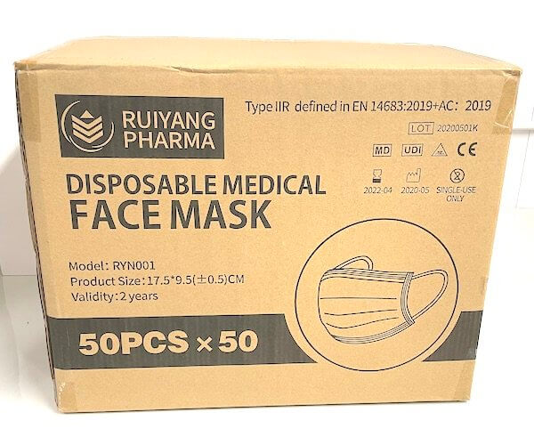 Wholesale Type IIR Medical Grade Face Masks – (Box of 2500)