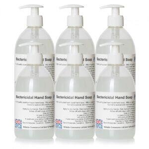 AntiBac Bactericidal Liquid Hand Soap 500ml Pump Top Bottles x6