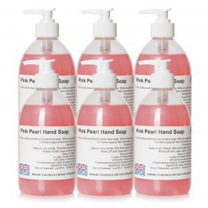 Pink Pearl Liquid Hand Soap 500ml Pump Top Bottles x6
