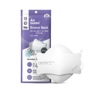 AirQUEEN Breeze Mask – White Individually wrapped