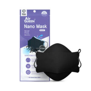 AirQUEEN Nano Mask – Black Individually Wrapped