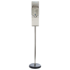 HandStation Eco Stainless Steel Floor Standing Automatic Touch Free Hand Sanitiser System – Foam Dispenser